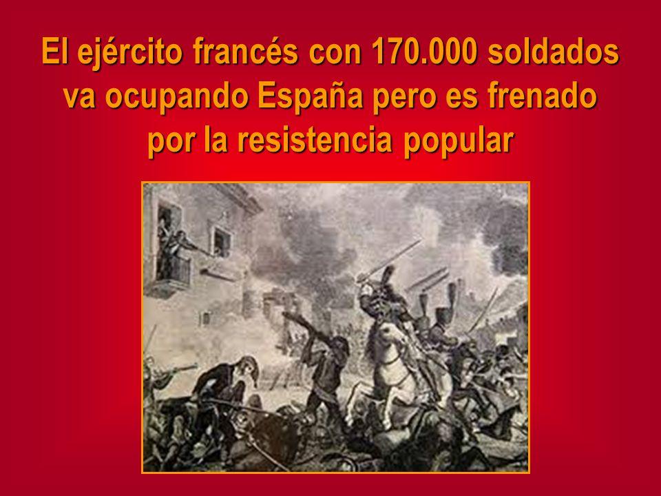 El ejército francés con 170