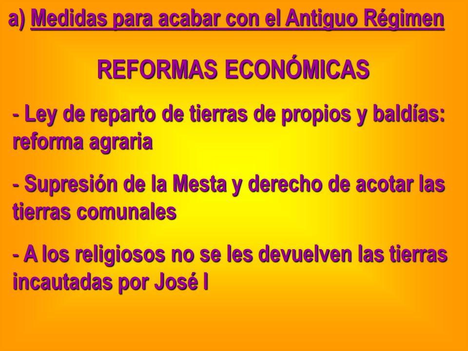 a) Medidas para acabar con el Antiguo Régimen