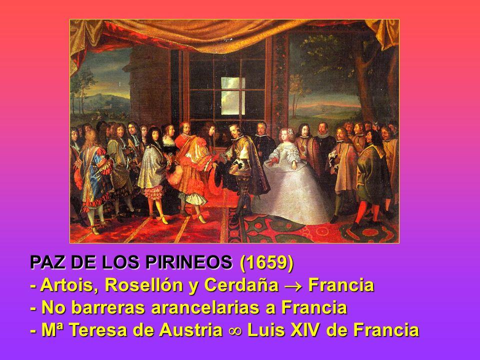 PAZ DE LOS PIRINEOS (1659) - Artois, Rosellón y Cerdaña  Francia.
