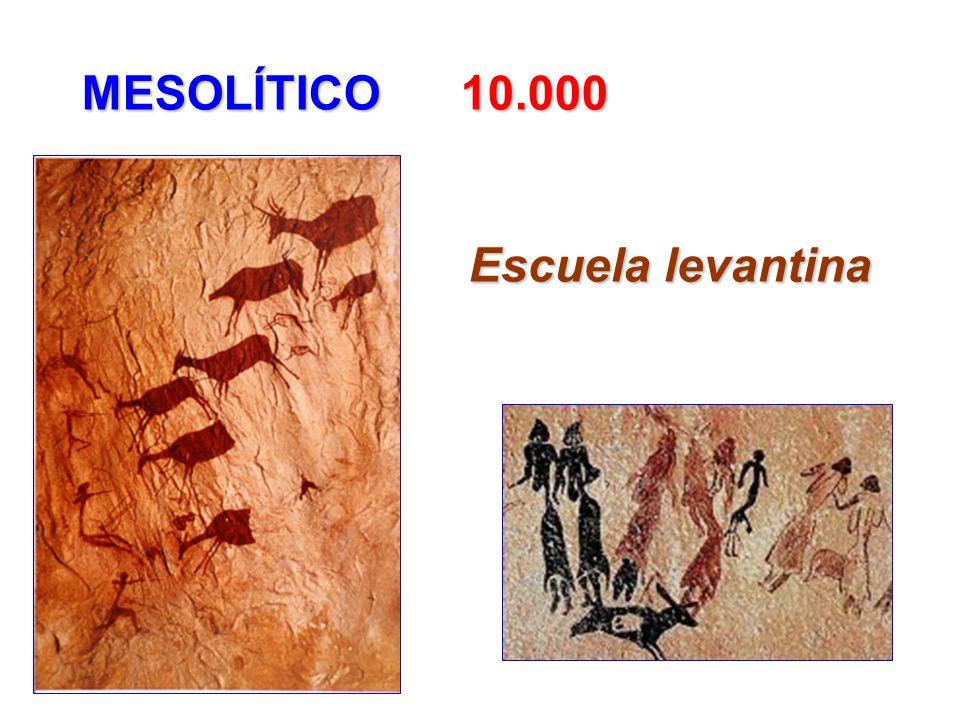 MESOLÍTICO 10.000 Escuela levantina