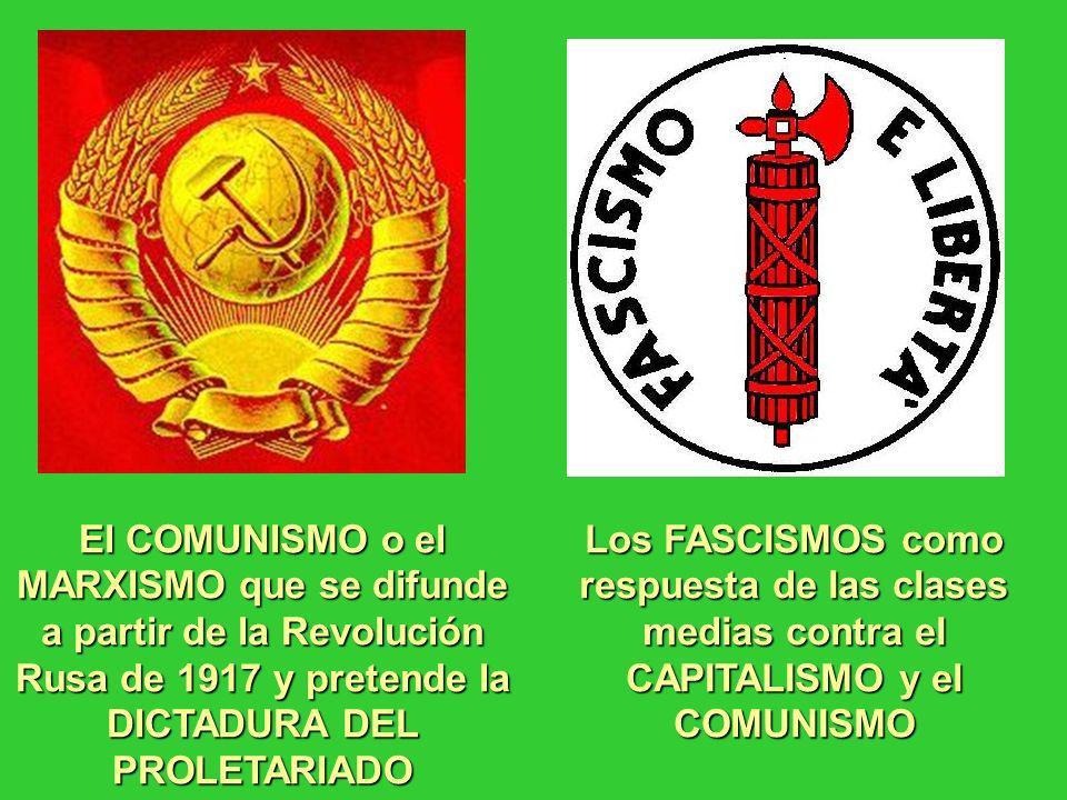 El COMUNISMO o el MARXISMO que se difunde a partir de la Revolución Rusa de 1917 y pretende la DICTADURA DEL PROLETARIADO