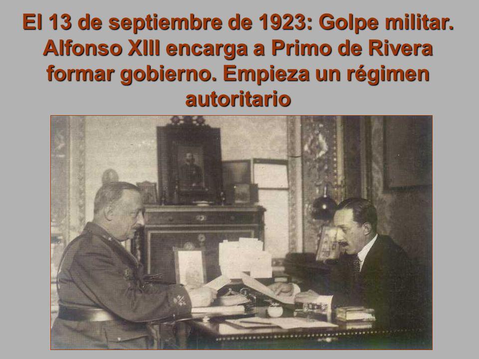 El 13 de septiembre de 1923: Golpe militar