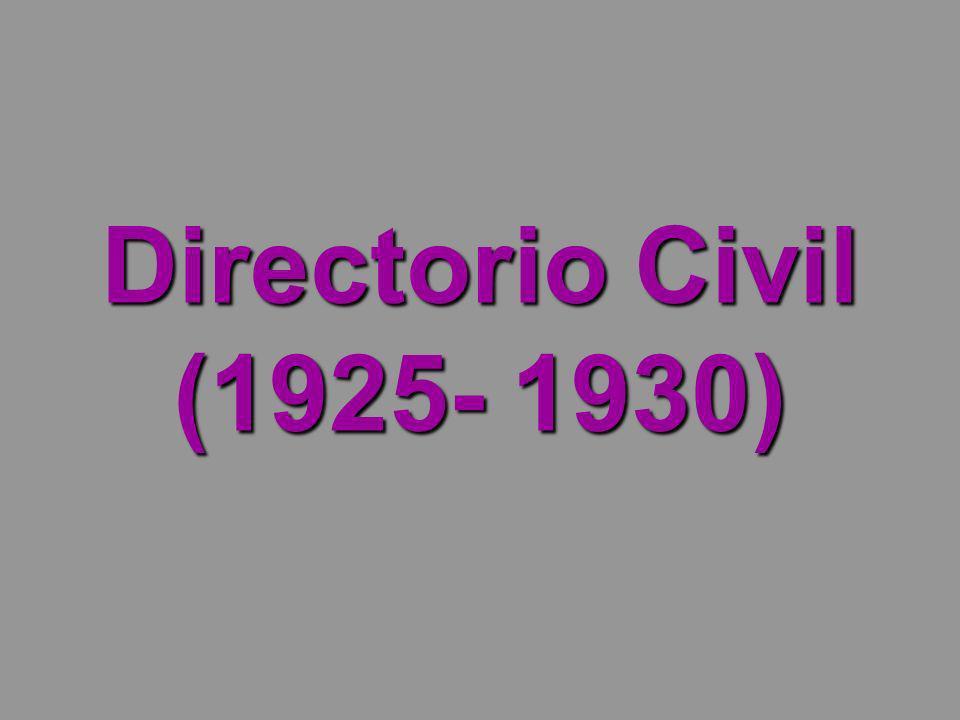 Directorio Civil (1925- 1930)