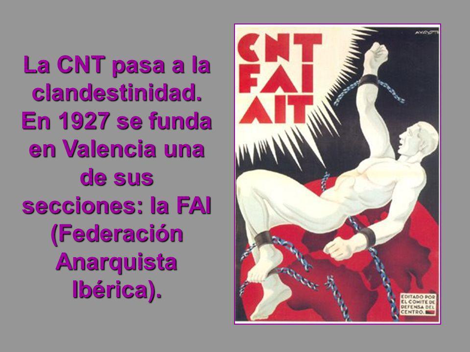 La CNT pasa a la clandestinidad