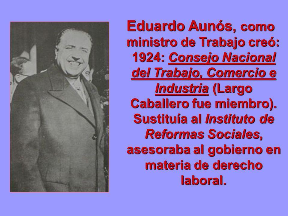 Eduardo Aunós, como ministro de Trabajo creó: