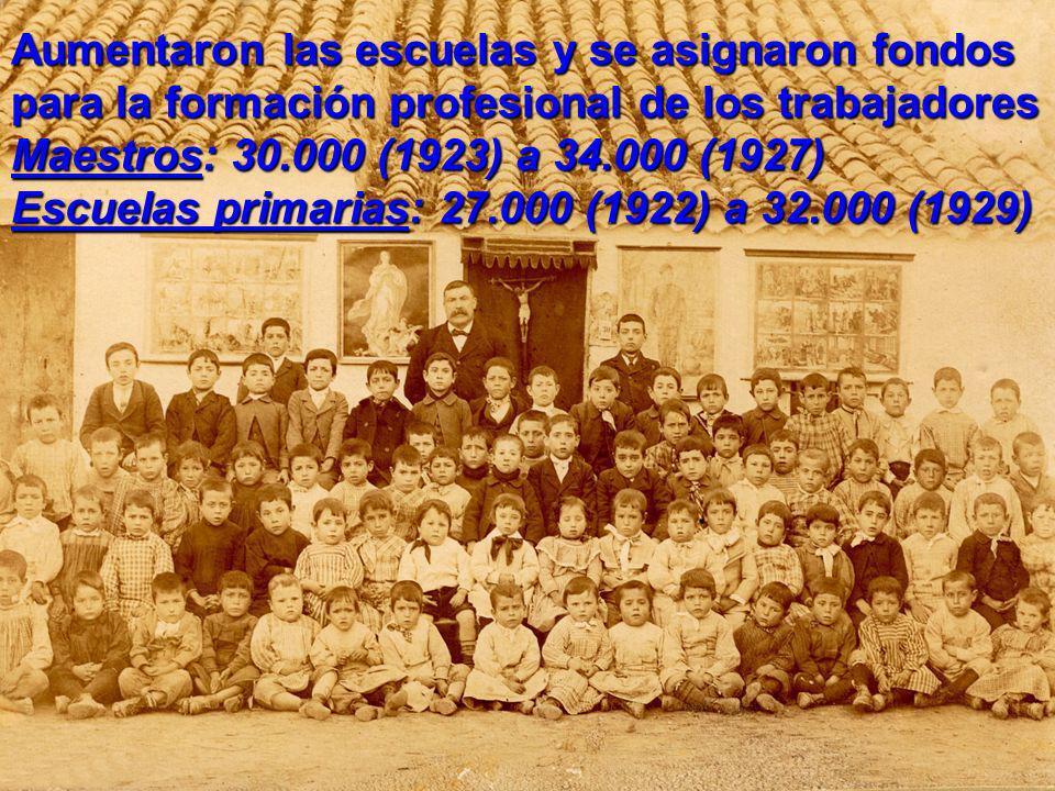 Aumentaron las escuelas y se asignaron fondos para la formación profesional de los trabajadores