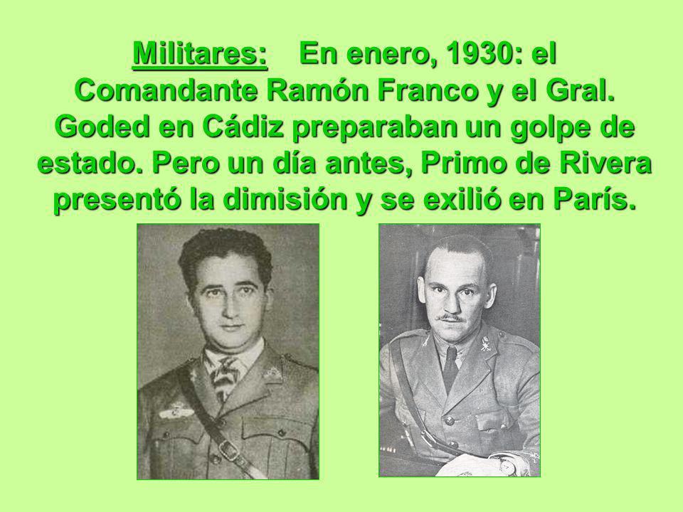 Militares: En enero, 1930: el Comandante Ramón Franco y el Gral