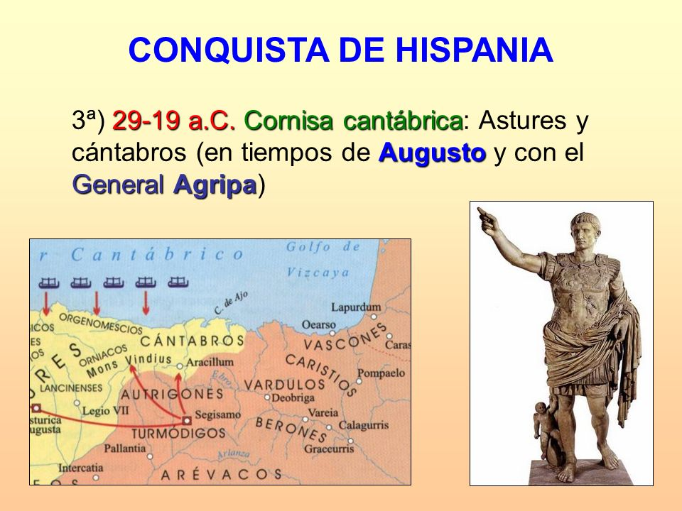 CONQUISTA DE HISPANIA 3ª) 29-19 a.C.