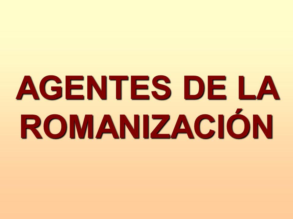 AGENTES DE LA ROMANIZACIÓN