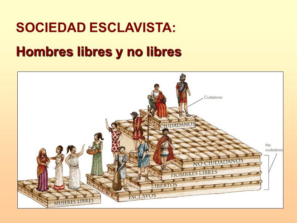 SOCIEDAD ESCLAVISTA: Hombres libres y no libres