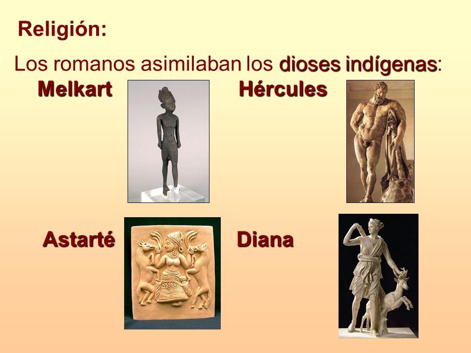 Los romanos asimilaban los dioses indígenas: Melkart Hércules