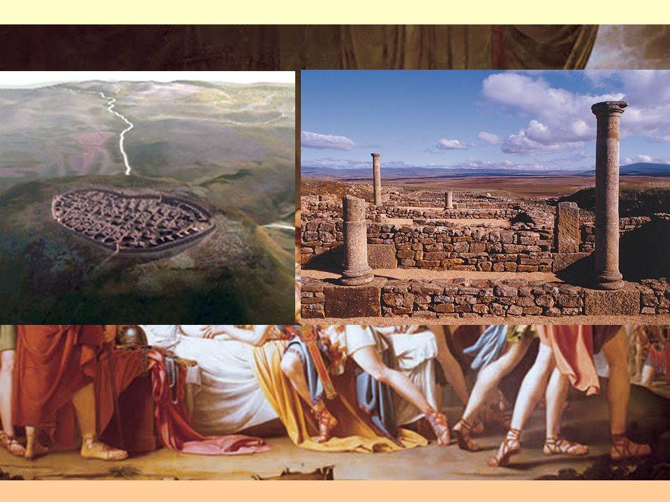 CONQUISTA DE HISPANIA 2ª) 206-29 a.C. Contra los pueblos del interior: