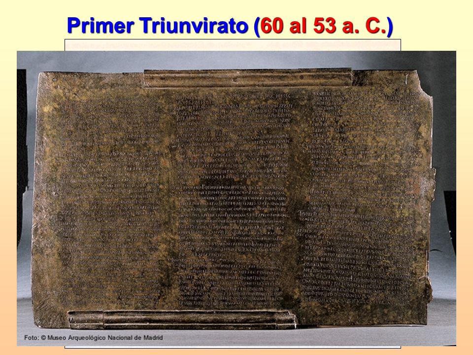 Primer Triunvirato (60 al 53 a. C.)