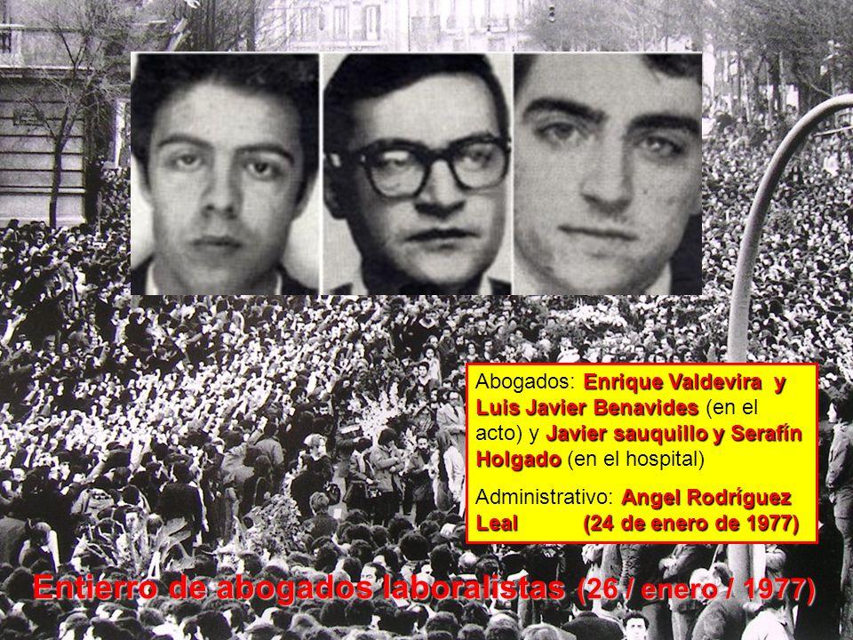 Entierro de abogados laboralistas (26 / enero / 1977)
