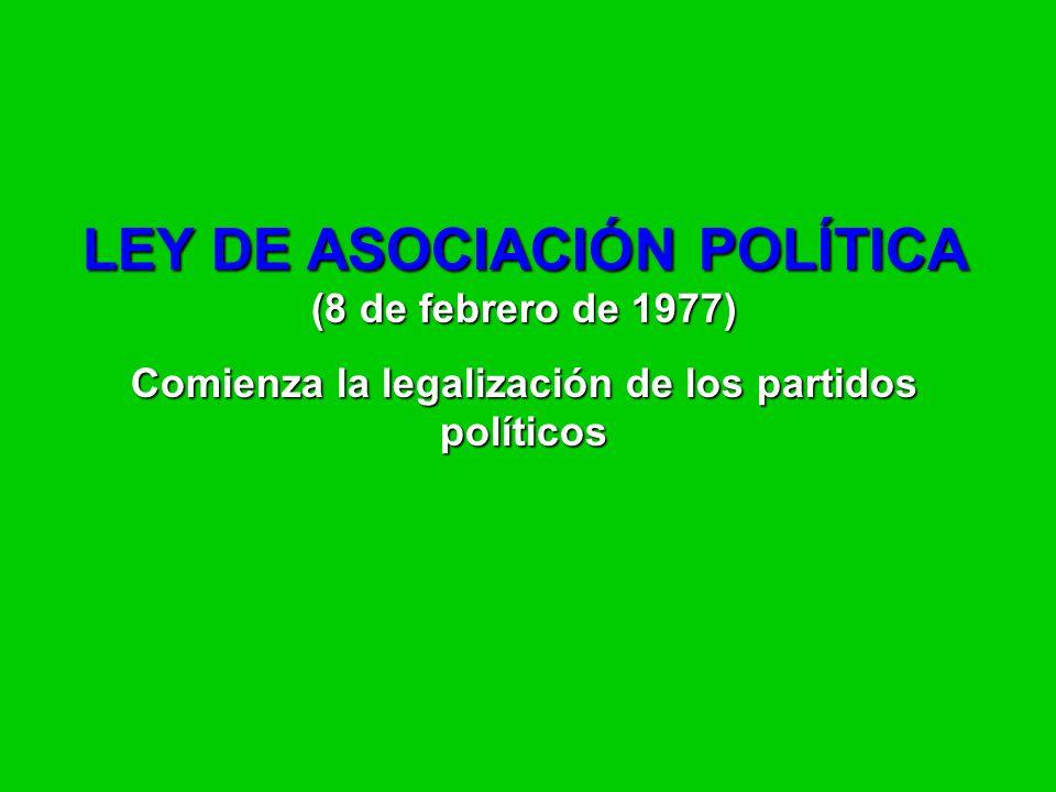 LEY DE ASOCIACIÓN POLÍTICA (8 de febrero de 1977)