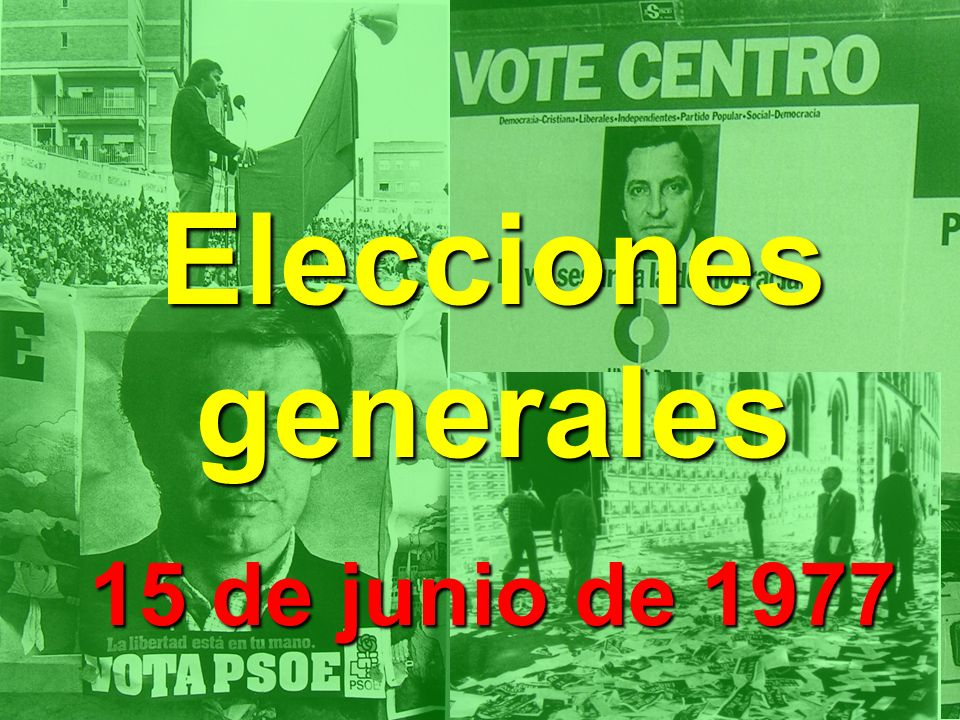 Elecciones generales 15 de junio de 1977