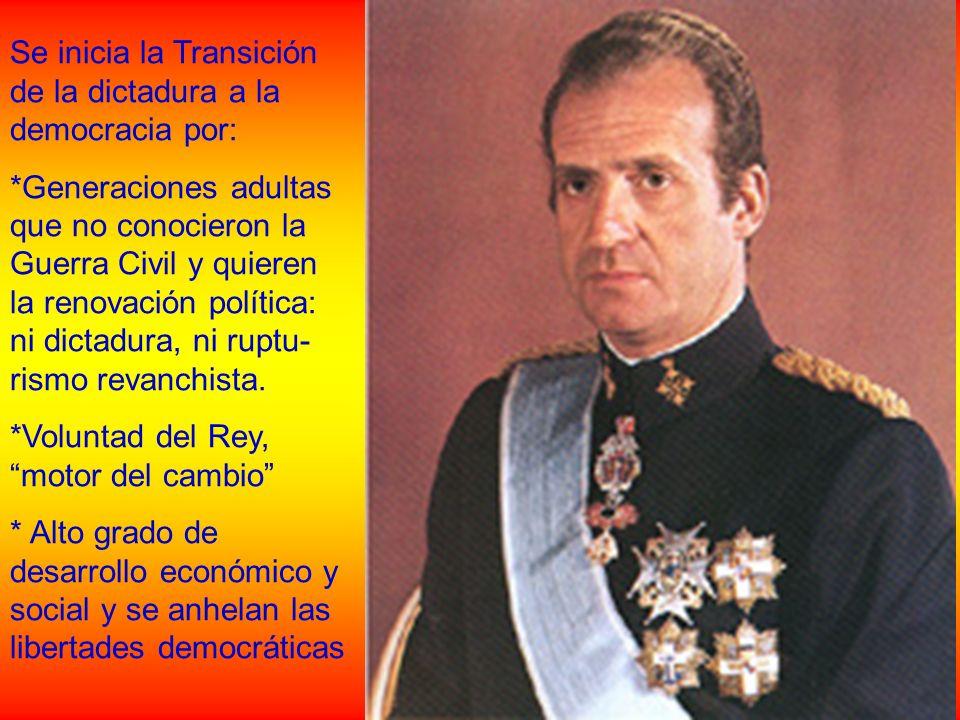 Se inicia la Transición de la dictadura a la democracia por: