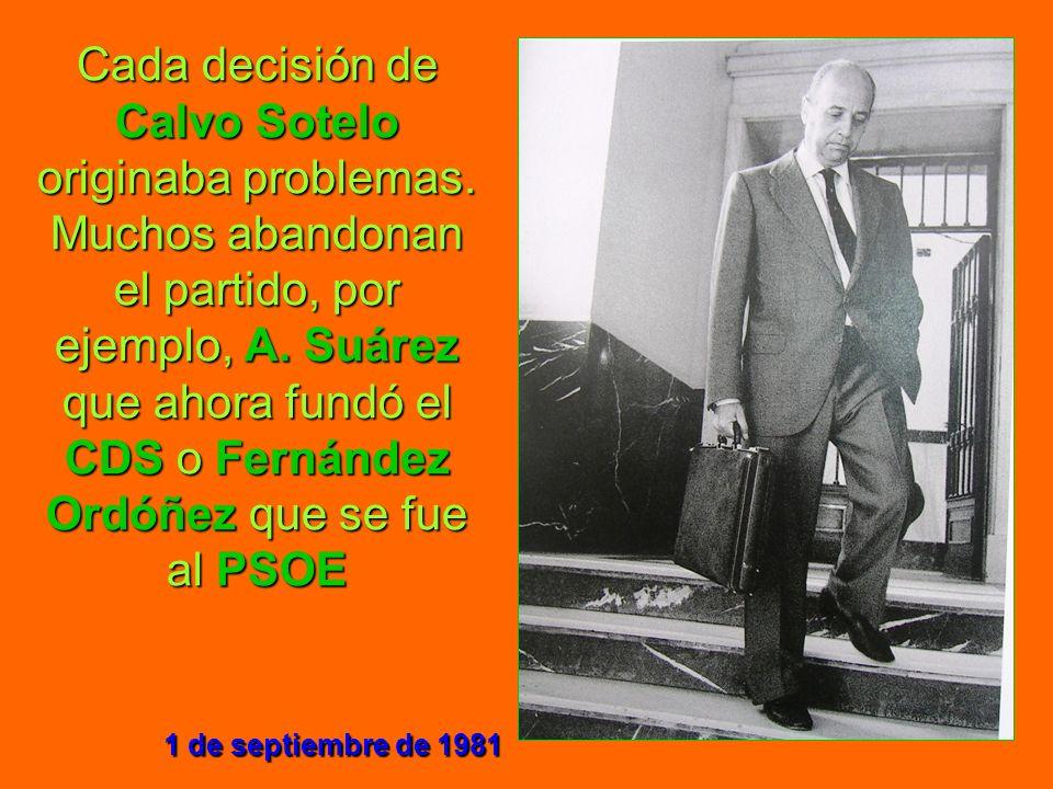 Cada decisión de Calvo Sotelo originaba problemas