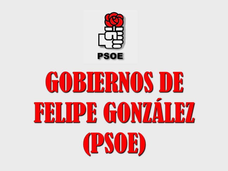 GOBIERNOS DE FELIPE GONZÁLEZ (PSOE)