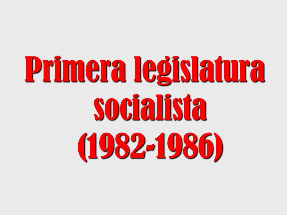 Primera legislatura socialista (1982-1986)