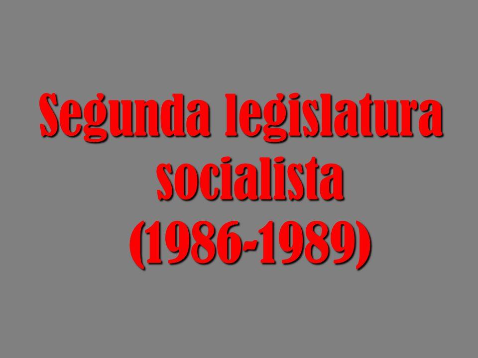 Segunda legislatura socialista (1986-1989)