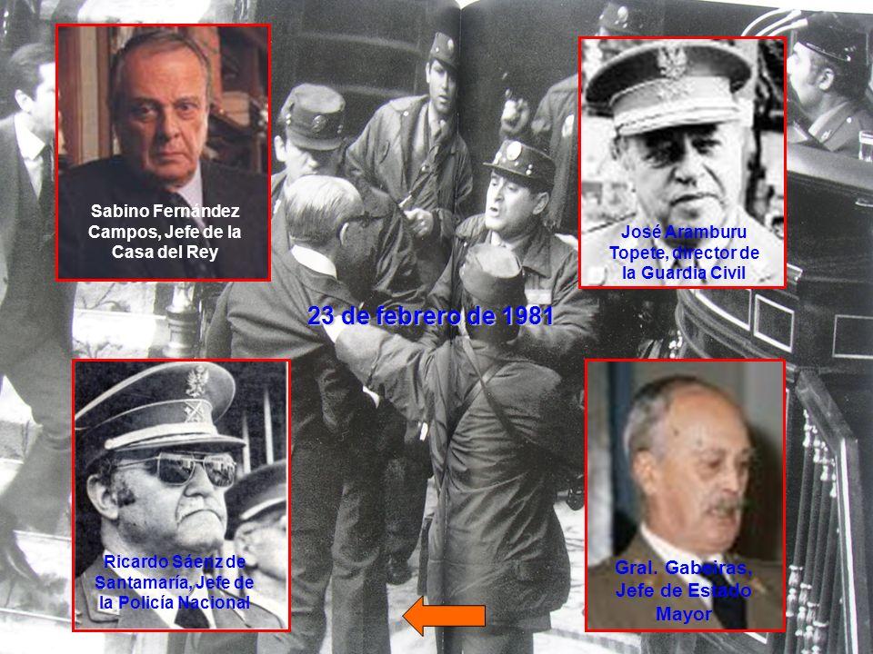 23 de febrero de 1981 Gral. Gabeiras, Jefe de Estado Mayor