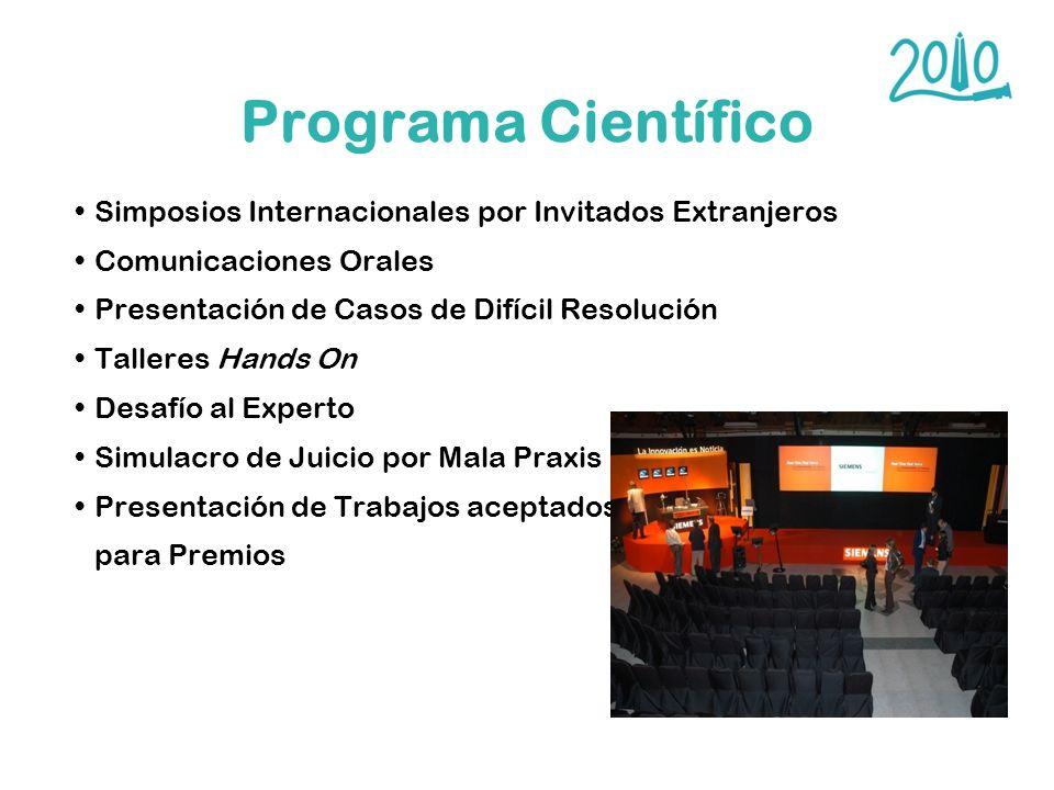 Programa Científico Simposios Internacionales por Invitados Extranjeros. Comunicaciones Orales. Presentación de Casos de Difícil Resolución.