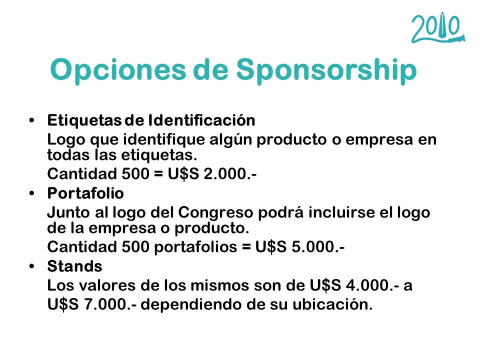 Opciones de Sponsorship