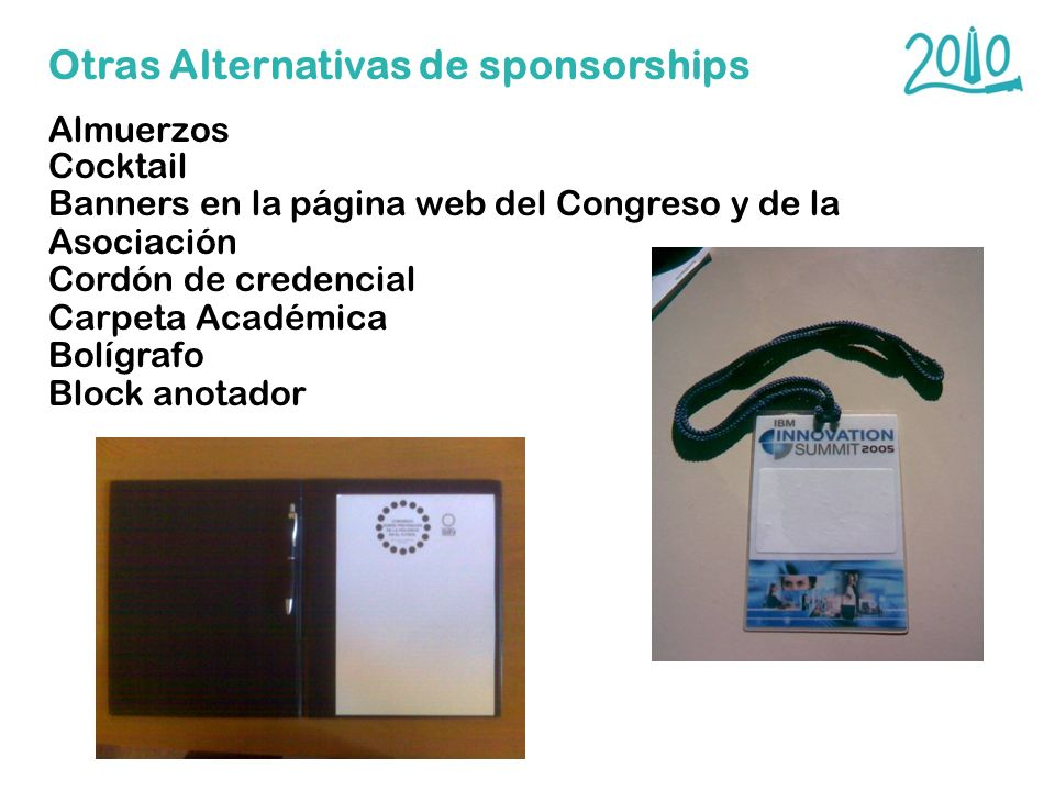 Otras Alternativas de sponsorships