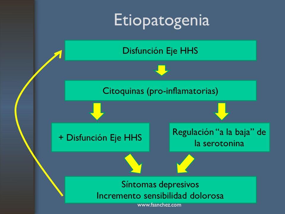 Etiopatogenia Disfunción Eje HHS Citoquinas (pro-inflamatorias)