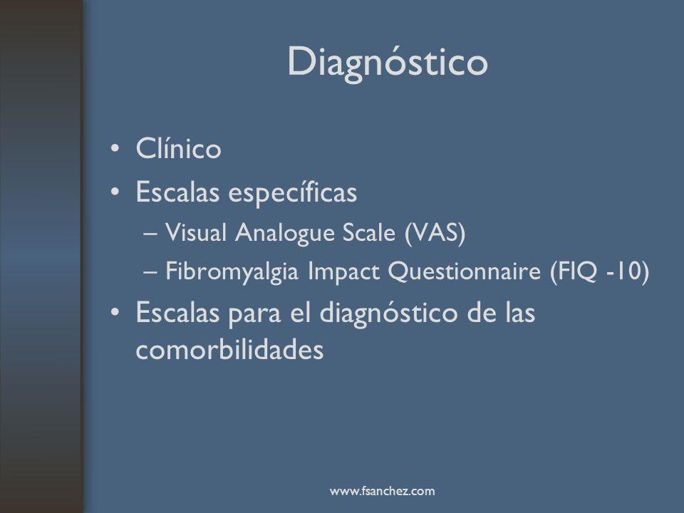 Diagnóstico Clínico Escalas específicas