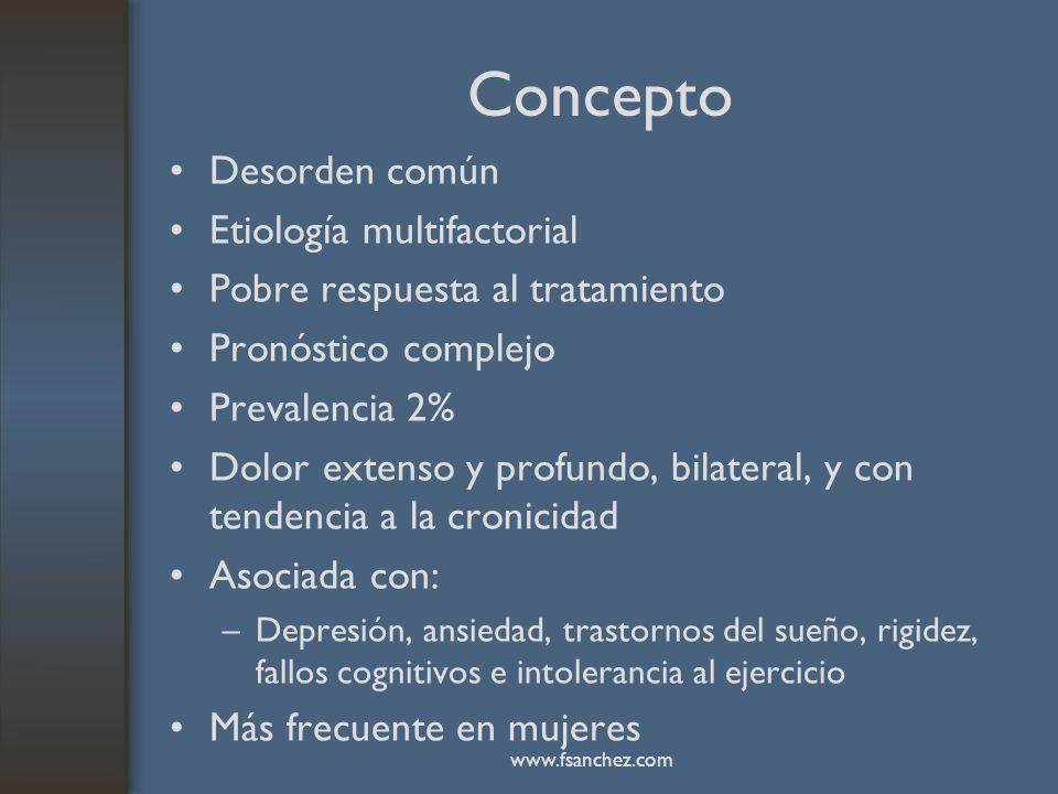Concepto Desorden común Etiología multifactorial