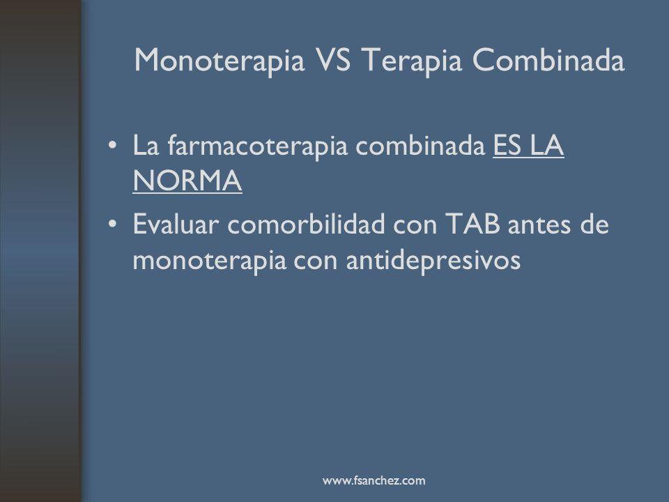 Monoterapia VS Terapia Combinada