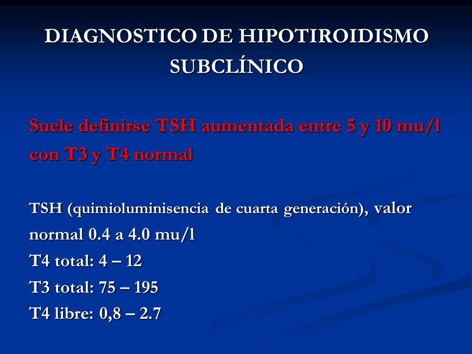 DIAGNOSTICO DE HIPOTIROIDISMO