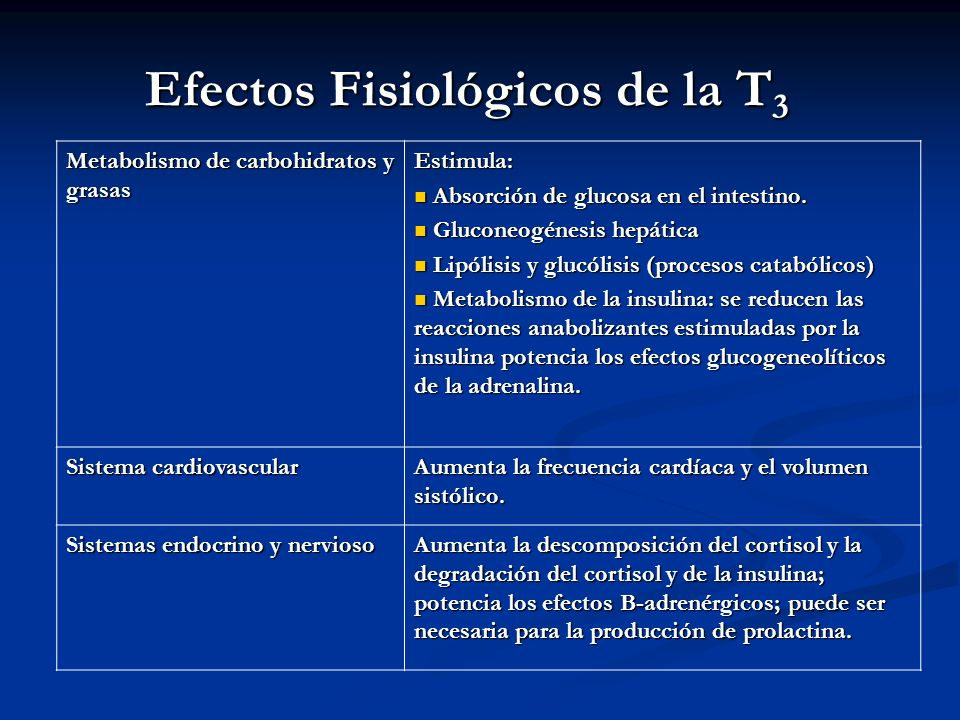 Efectos Fisiológicos de la T3