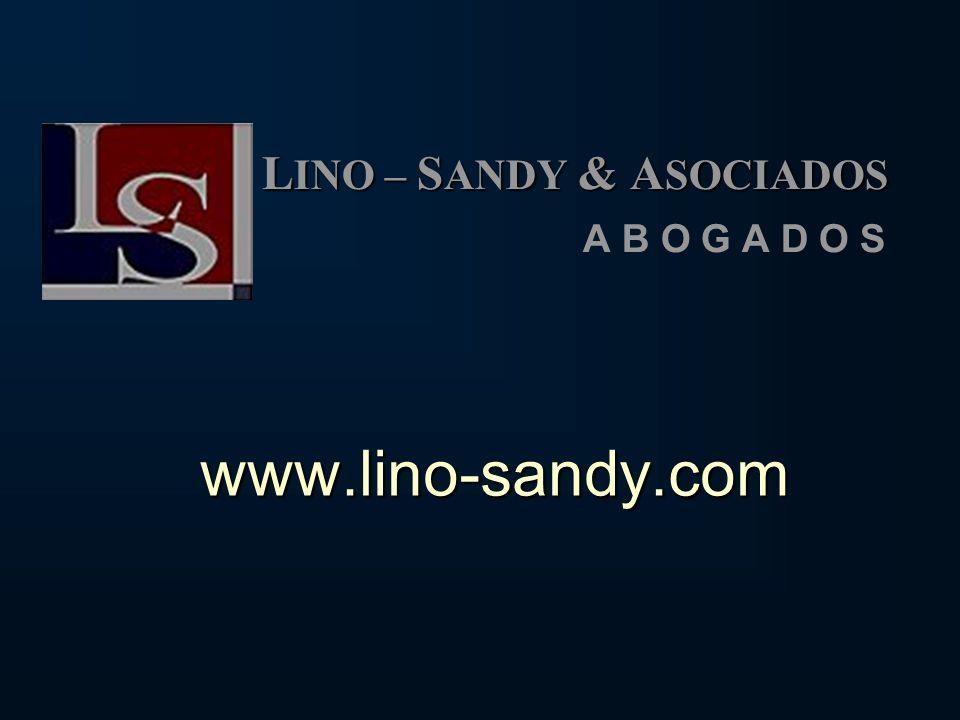 LINO – SANDY & ASOCIADOS A B O G A D O S