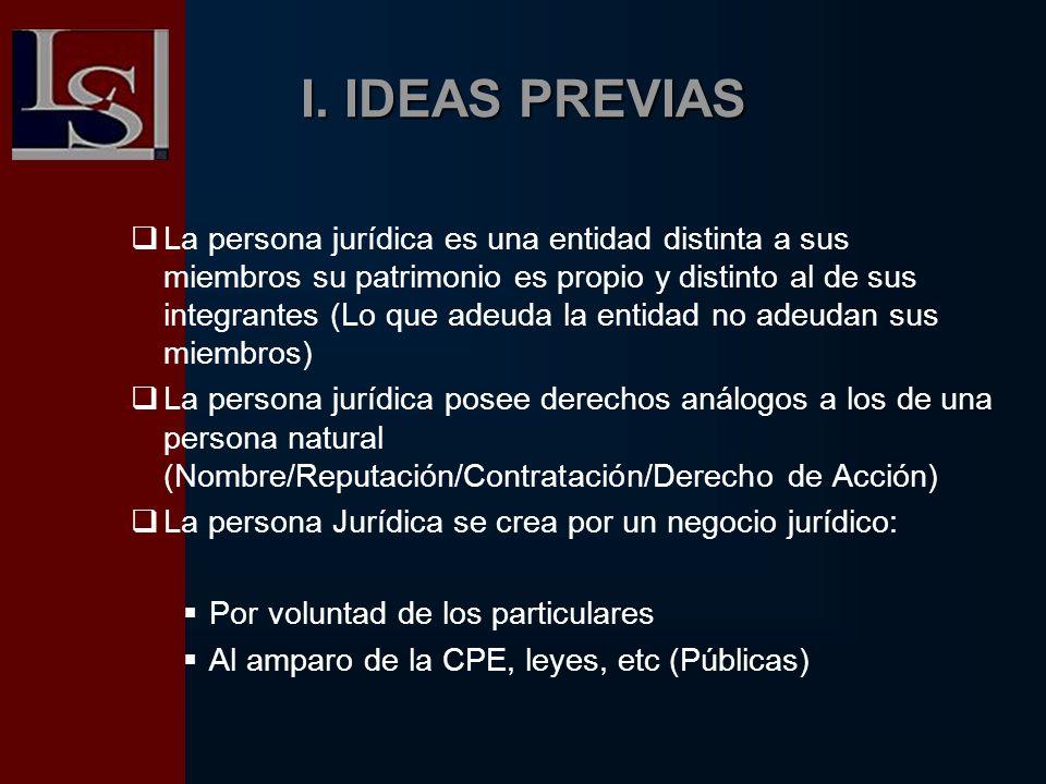 I. IDEAS PREVIAS