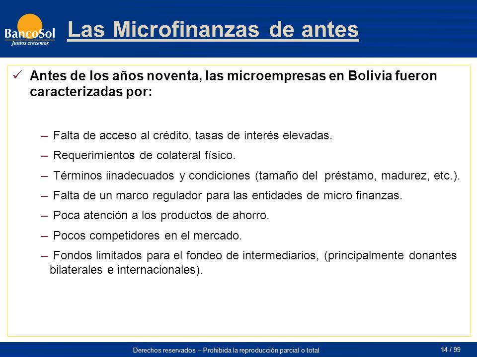 Las Microfinanzas de antes