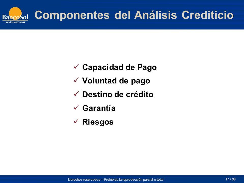 Componentes del Análisis Crediticio