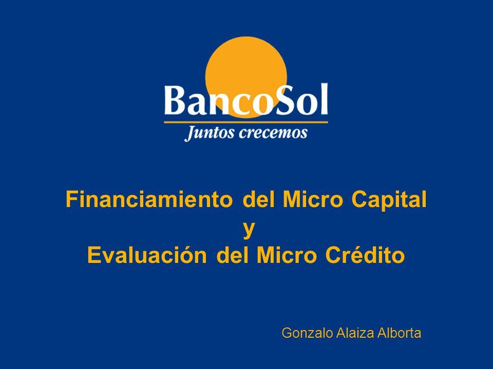 Financiamiento del Micro Capital y Evaluación del Micro Crédito
