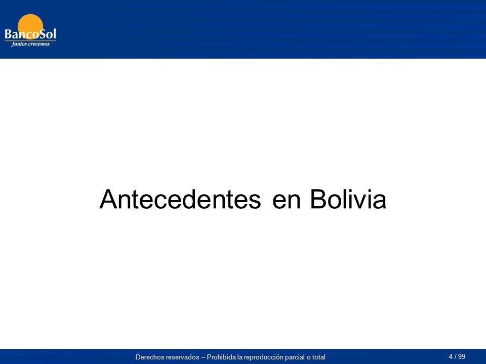 Antecedentes en Bolivia