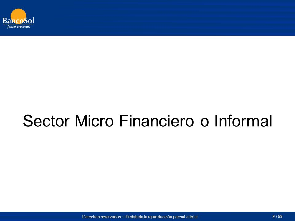 Sector Micro Financiero o Informal