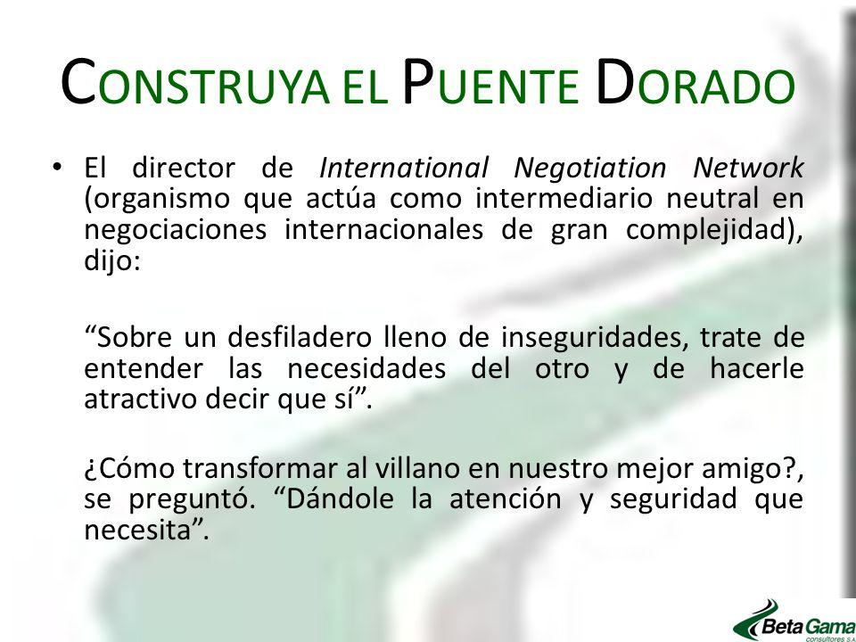 CONSTRUYA EL PUENTE DORADO