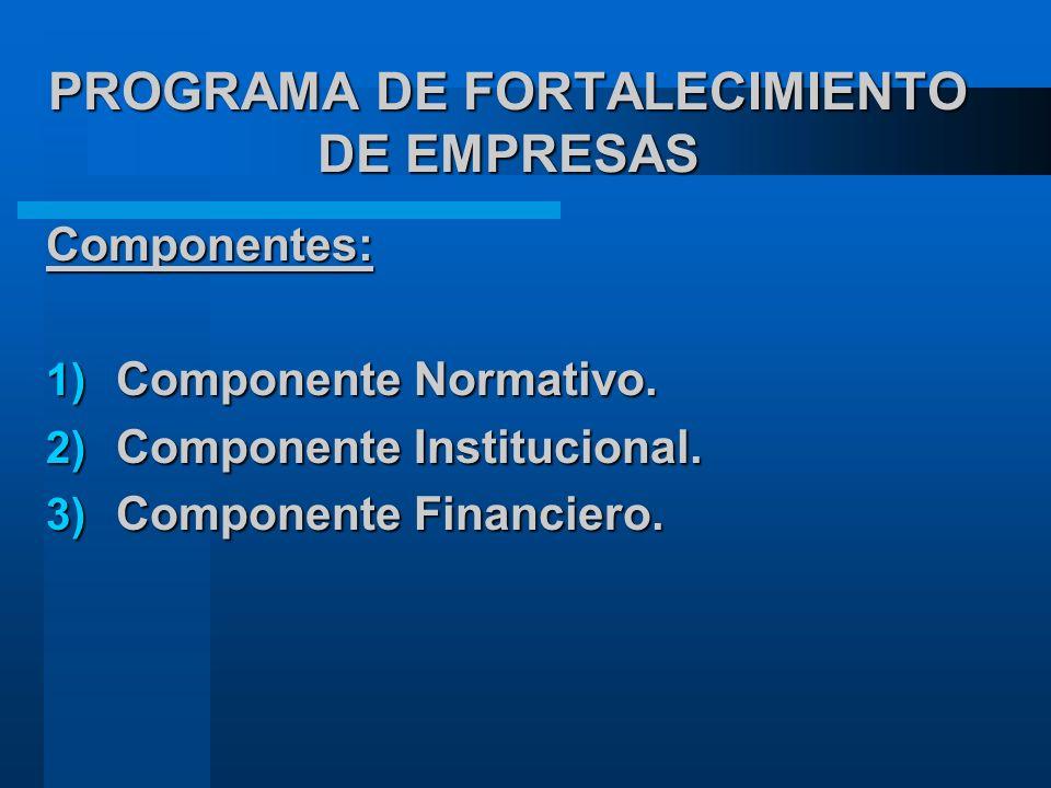 PROGRAMA DE FORTALECIMIENTO DE EMPRESAS
