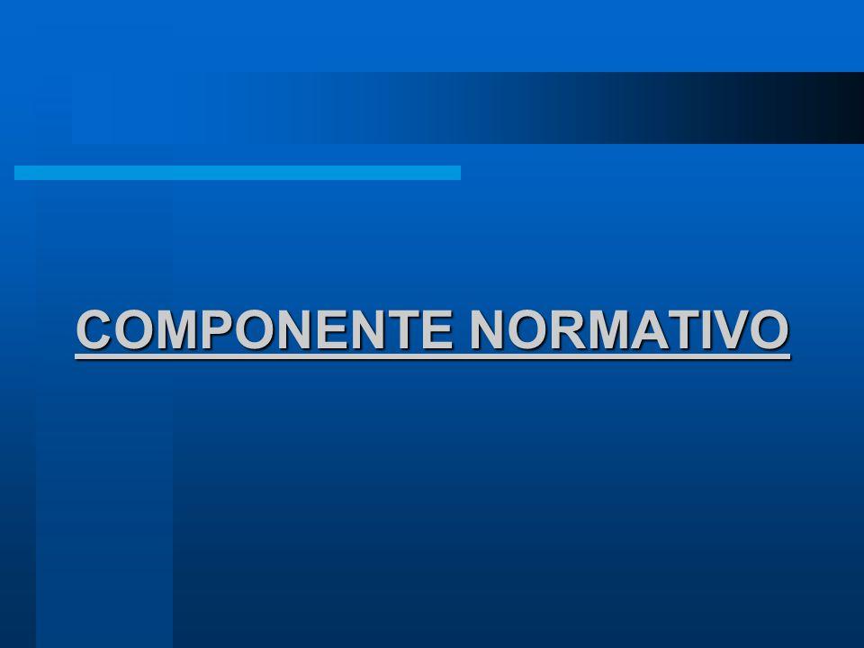 COMPONENTE NORMATIVO