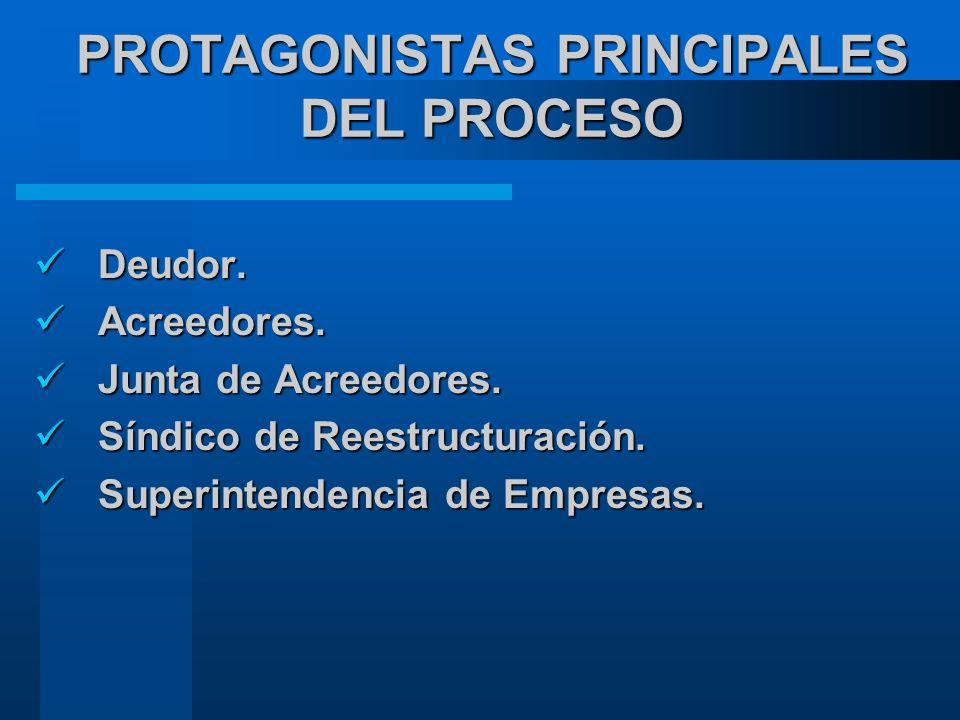 PROTAGONISTAS PRINCIPALES DEL PROCESO