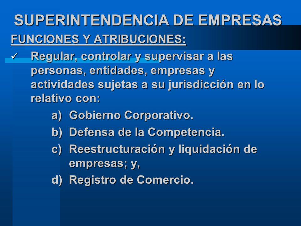 SUPERINTENDENCIA DE EMPRESAS