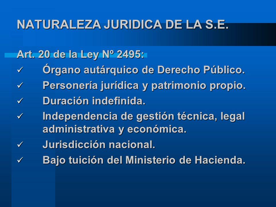 NATURALEZA JURIDICA DE LA S.E.