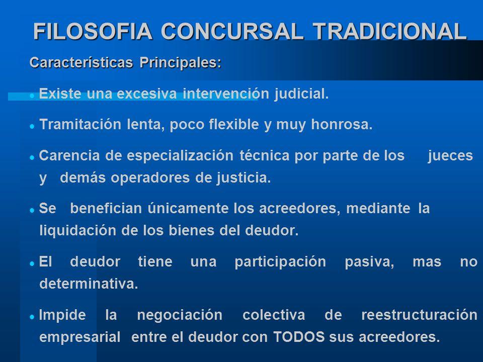 FILOSOFIA CONCURSAL TRADICIONAL