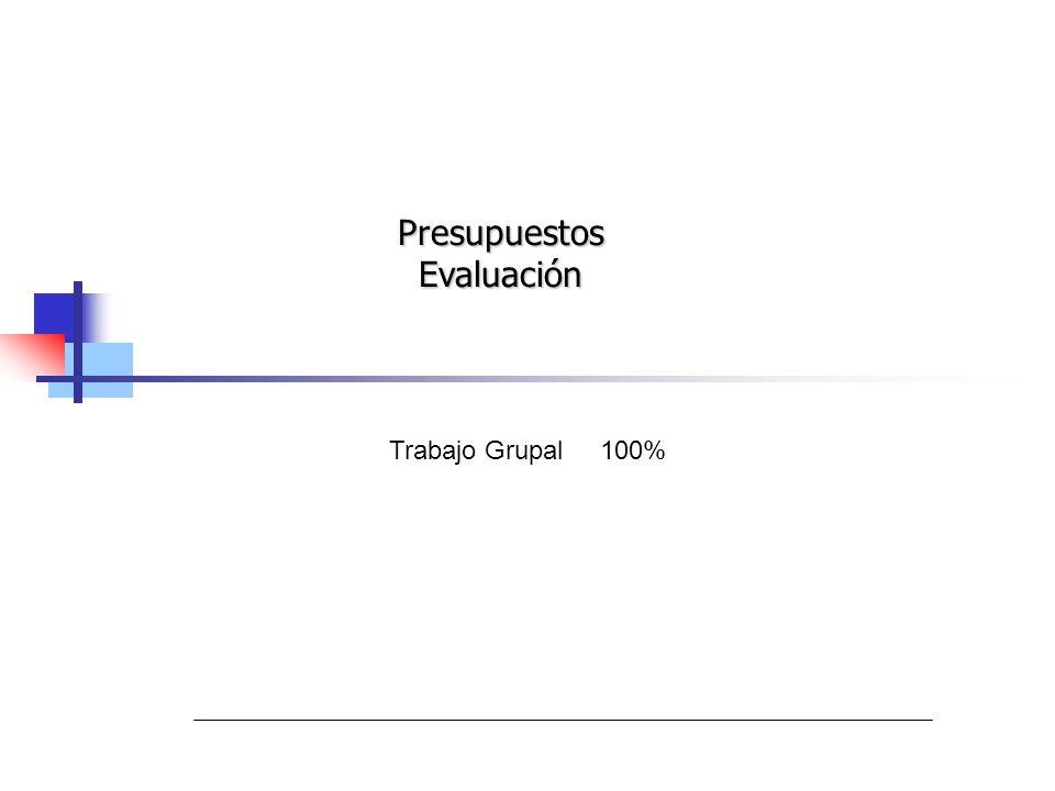 Presupuestos Evaluación Trabajo Grupal 100%
